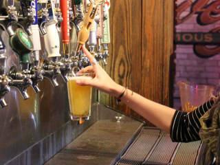Little Woodrow's beers on tap Austin bar