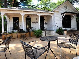 Exterior shot of Blackheart, and Austin bar located on Rainey Street.