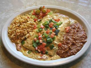 Chuy's Hatch chile enchiladas