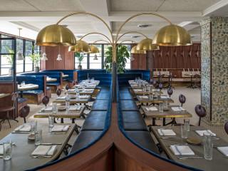 Eberly dining room restaurant Austin