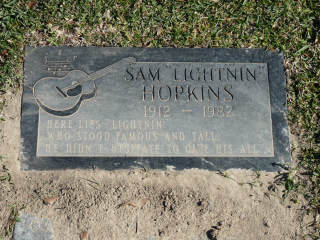 "Sam ""Lightnin"" Hopkins grave stone"