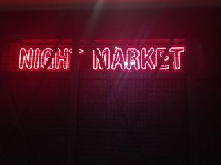 Night Market sign