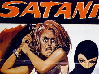 poster for Italian pop art film Satanik