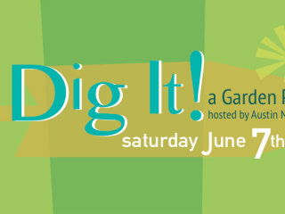 poster for Dig It! garden party at NEST Modern