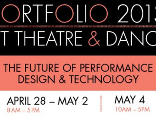 Banner for UT theatre and dance Portfolio 2012 exhibit
