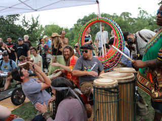 Austin Photo: Events_April 2012_Eeyores Birthday_drum circle