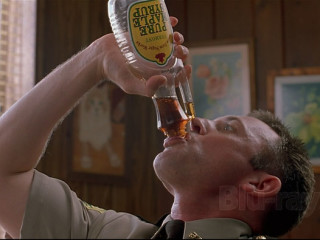 Super Troopers trooper chugging syrup contest