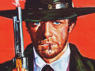 poster from spaghetti western film Sartana