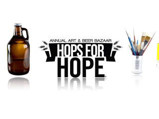logo for Hops for HOPE art and beer bazaar