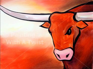 Longhorn Pride painting from Painting with a Twist