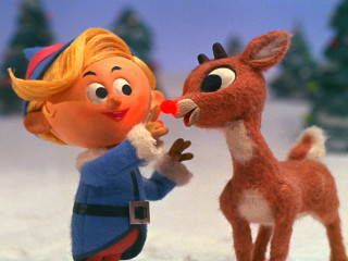 Rudolph the Red nosed Reindeer with Hermey the Elf