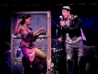 "Felicia Boswell and Bryan Fenkhart star in the national tour of ""Memphis."""