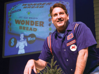 Pat Hazell in The Wonder Bread Years theatre production