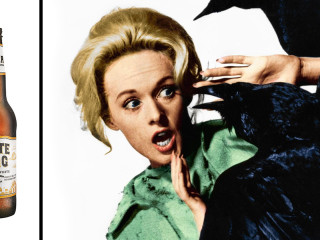 Shiner White Wing presents The Birds by Alfred Hitchcock starring Tippi Hedren