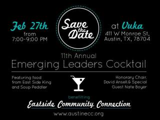 flyer for Emerging Leaders Cocktail for Eastside Community Connections