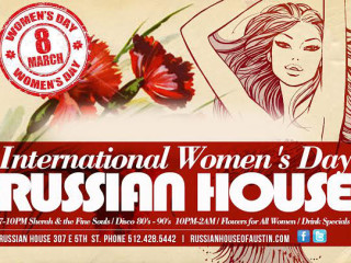 flyer for International Women's Day at Russian House of Austin