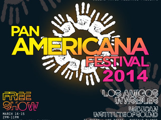 poster for Pan Americana Festival for SXSW music 2014