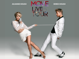 "Julianne and Derek Hough in performance ""Move Live on Tour"""