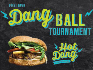poster for Hot Dang Burgers first ever DangBall tournament