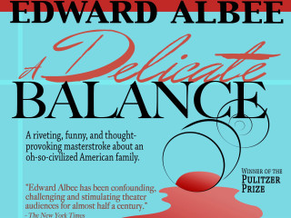 poster for City Theatre Company's production of Edward Albeer's A Delicate Balance