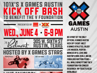 X games austin poster 101X Kick-off party