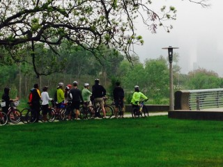 Architecture Center Houston hosts Buffalo Bayou Park Bike Tour with SWA Group and Buffalo Bayou Partnership