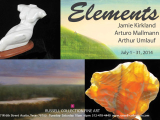 poster for Elements exhibit at Russell Collection july 2014