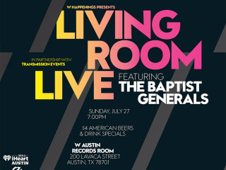 poster W Austin Living Room Live with Baptist general