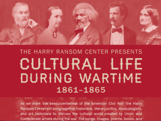 Harry ransom Center symposium Cultural Life During Wartime