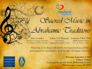 poster Sacred Music in Abrahamic Traditions