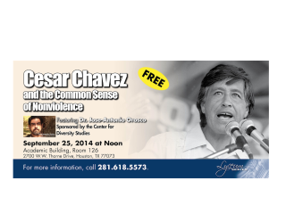 "Open discussion: ""Rhetoric of Nonviolence of Cesar Chavez"""