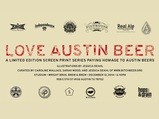 Love Austin Beer - Prints by Jessica Deahl - Bitch Beer - December 2014