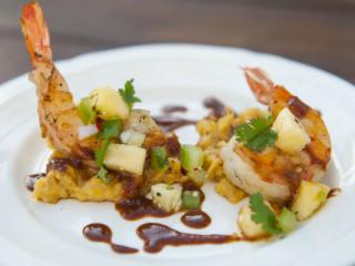 Cafe Josie Austin restaurant shrimp dish 2016