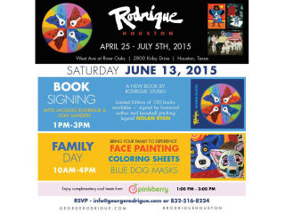 Rodrigue Art Exhibit Family Day