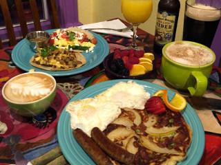 Pacha Organic Cafe Austin restaurant coffee shop breakfast pancakes