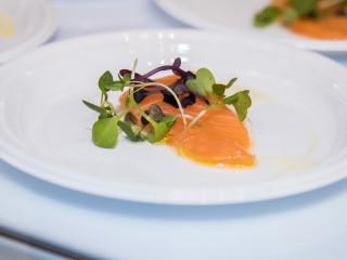 Salmon sashimi from Kenichi