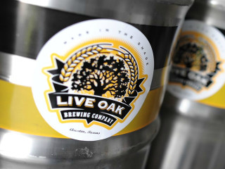 Live Oak Brewing Company keg logo closeup