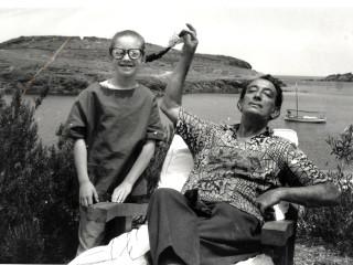Christine Argillet and Salvador Dali