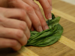 Roni Proter chopping herbs