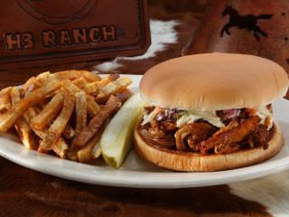 H3 Ranch pork sandwich