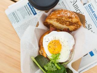 Paperboy breakfast sandwich