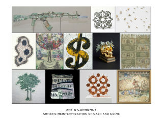 """""""Art & Currency - Artistic Reinterpretation of Cash and Coins"""" opening day"""