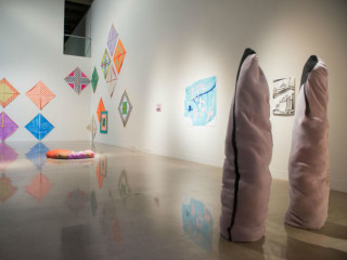 """Affordable Dream House: 2018 Studio Art MFA Thesis Exhibition"""" opening reception"""