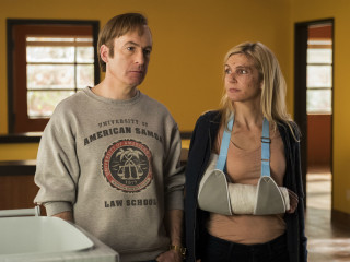 Bob Odenkirk and Rhea Seehorn in Better Call Saul
