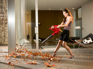 News-Blowhards-Oct. 2009-sexy woman with leaf blower