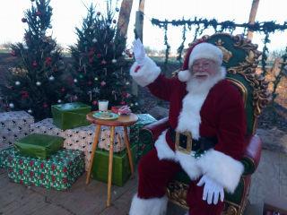 Santa and Real Reindeer