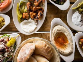 Aladdin Mediterranean Cuisine food spread