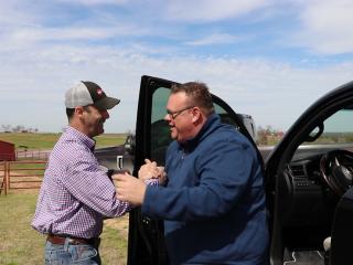 Jason Schimmels and Chris Shepherd at 44 Farms