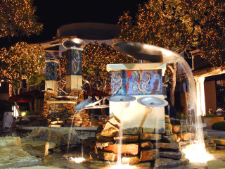 Shops at La Cantera fountain