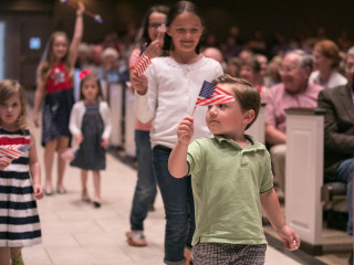 Stars and Stripes at St. Andrew